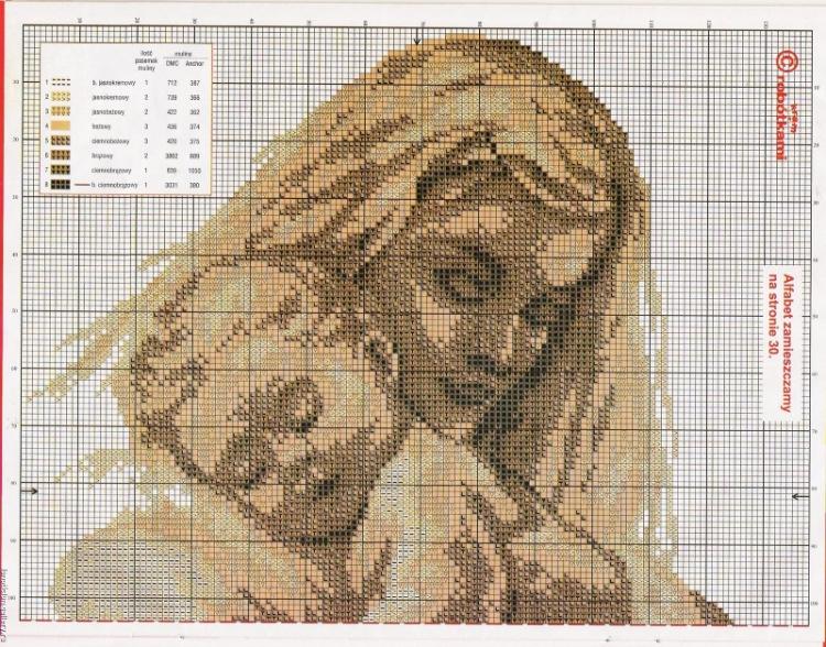 Вышивки крестом схемы мама и дочка