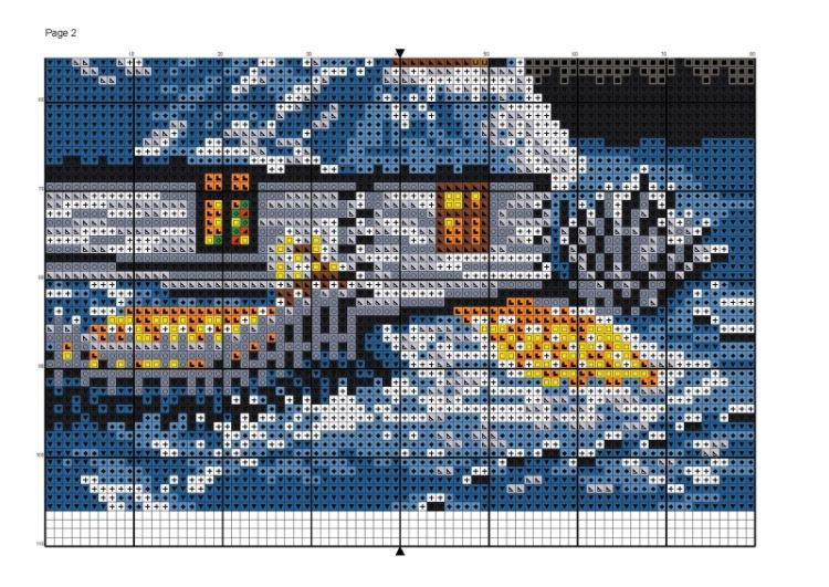 Схемы вышивки крестом зимние пейзажи 33