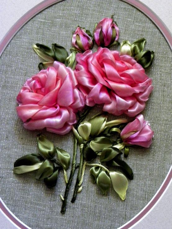 Розы и лент мастер класс