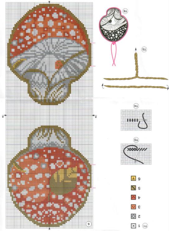 Кубышка схема вышивки крестом 82