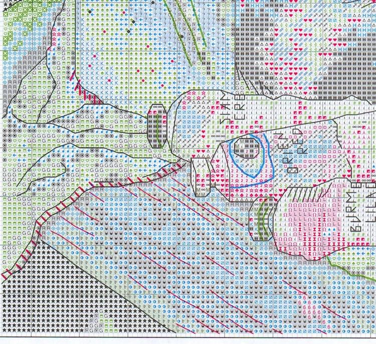 Схема вышивки от дименсионс леонардо
