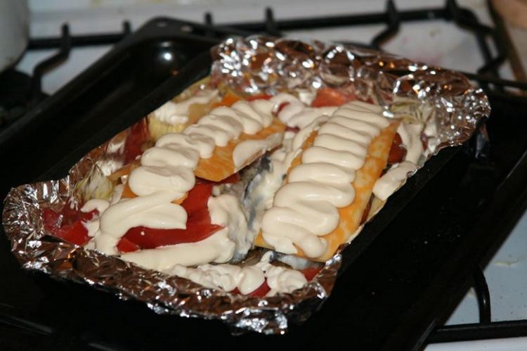 Зубатка в фольгеы приготовления в духовке с фото