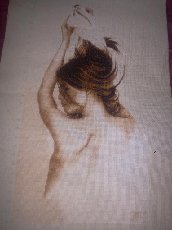 Вышивка девушки с волосами 432