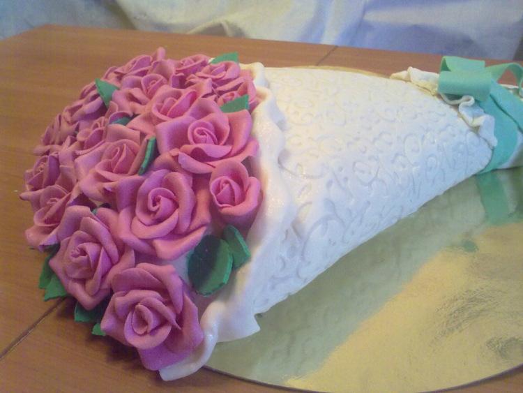 Как сделать торт в виде букета цветов мастер класс