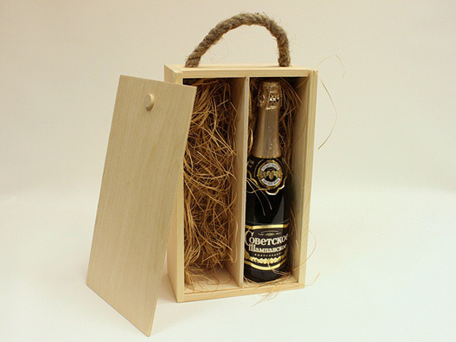 Как сделать коробку для шампанского своими руками